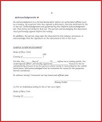notarized letter elegant notarized document types of letter