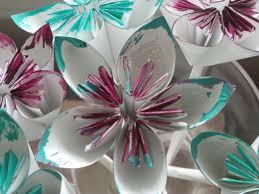 Folding Paper Flower Diy Folded Paper Flowers Kusudama Origami Theeasydiy Crafty