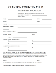 Club Membership Form Template 30 Images Of Club Application Template Leseriail Com