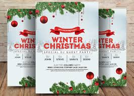 Christmas Flyer Templates Winter Wonderland Christmas Psd Flyer Template Free Psd
