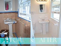 Refinish Bathroom Tile Interesting Painted Tile Before And After Real Estate Flipping In 48