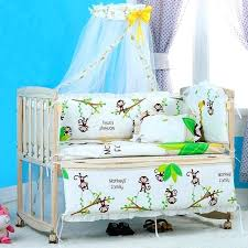baby bedding cotton baby boy crib bedding set infant baby bedding sets for boy