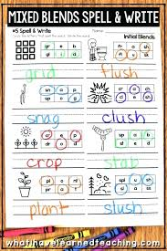 She'll write blends to match a fun picture, then identify blends in a series of sentences. Phonics Worksheets Initial Final Blends Blending Grade Sumnermuseumdc Org