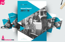 Free Download Brochure Free Brochure Annual Report Template Psd Freedownloadpsd Com
