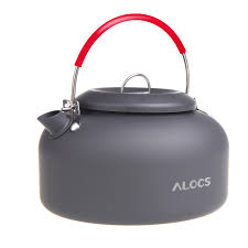 <b>ALOCS 1.4L</b> Aluminum Outdoor Kettle <b>Camping</b> Picnic <b>Water</b> ...