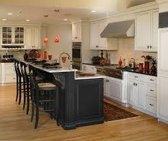 kitchen white cabinets black island photo 2