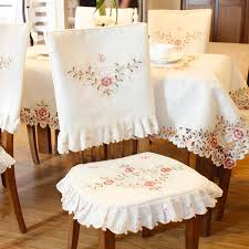 dining chair seat covers grade embroidered top dining table cloth thick warm chair covers of dining
