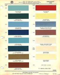 Chevy Stock Chart 1958 Chevrolet Paint Chart Car Paint Colors Chevy Apache