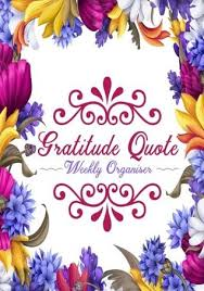 At A Glance Organizer Gratitude Quote Weekly Organiser Weekly Schedule Diary At