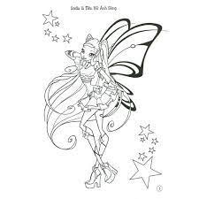 Tranh tô màu công chúa Winx xinh đẹp dành tặng bé yêu
