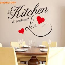 diy kitchen love red heart wall sticker restaurant removable waterproof vinyl wall decals for kitchen wall art home decor wall decal art wall decal