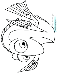 Childrens Printable Colouring Pages Dory Coloring Pages Dory