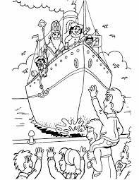 Kleurennu Aankomst Van De Stoomboot Kleurplaten