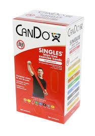 Box Of Light Band Cando Latex Free Exercise Band Box Of 30 5 Length Red Light
