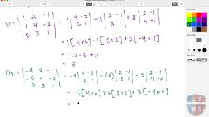 math ysis matrices cramer s rule solving 3 by 3 matrix