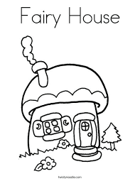 Fairy House Coloring Page Pages Printable Betterfor