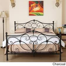 Metal Bedroom Furniture Sets Marcus Queen Metal Bed By Christopher Knight Home Champagne