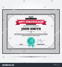 Gift Certificate Sign Gift Certificate Comb Hair Scissors Sign Stock Vector Royalty Free