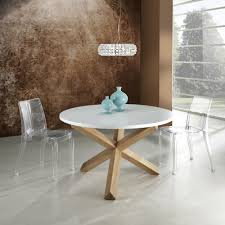 Round Dining Table With Solid Wood Frame Kos Modern Design