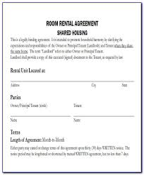 Rental agreement for a room contract. Residential Room Rental Agreement Form Free Vincegray2014