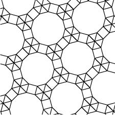 Mozaïek Met Twaalfhoek Driehoek En Vierkant Kleurplaat Gratis