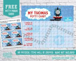 Digital Thomas The Train Potty Training Chart Free Punch Cards High Resolution Jpg Files Instant Download Not Editable Ready To Print