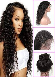 Amazon.com : Brazilian Deep Wave Lace Front Wigs with Baby Hair For Black Women 130% Density Virgin Remy Human 20 inch