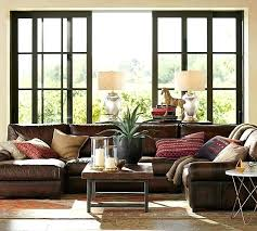 endearing turner roll arm leather 4 piece chaise sectional pottery barn rolled sofa princeton bar