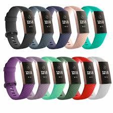 Charge 3 <b>Strap Pure</b> Color Silicone Replacement <b>Smart Watch</b> ...