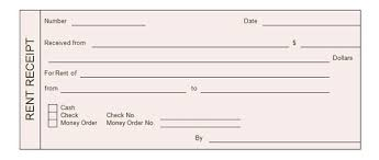 rent receipt templates  word excel formats rent receipt form template