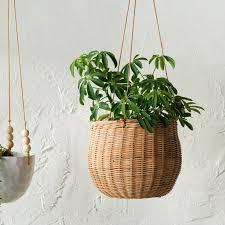 Milania Rattan Hanging Planter