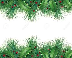 Pine Branches For Decoration Pine Branches With Holly And Red Berries For A Christmas Holiday
