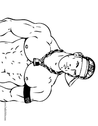 Small Picture John Cena Coloring Page Free Printable Wwe Coloring Pages For Kids