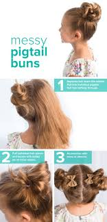 Pigtails Hair Style heres how to create messy pigtail buns for little girls and 2169 by stevesalt.us
