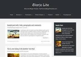 Simple Blog Templates Diarjo Lite Simple Blogger Template Blogspot Templates 2019