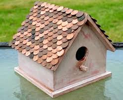 penny roof birdhouse wooden birdhouses to paint wood ideas