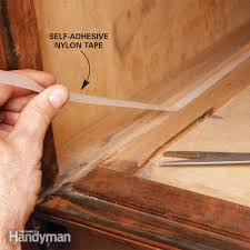 paraffin or nylon tape keeps wooden drawers from sticking