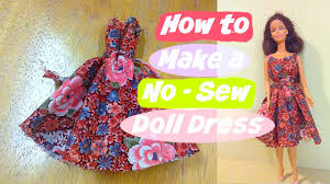 Barbie Doll Clothes Patterns Unique How To Make A Nosew Doll Dress YouTube