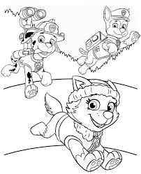 Nick Jr Coloring Pages Paw Patrol 6e Noted Games Christmas Rubble