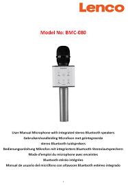 LENCO BMC-080 USER MANUAL Pdf Download