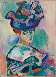 henri matisse painting woman with a hat from 1905 in the san francisco museum