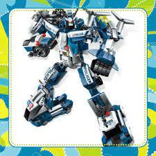 Đồ Chơi Giá Rẻ] Bộ lego 6 in 1 Enlighten 1407- mô hình robot cảnh sát