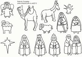 Christmas Nativity Scene Coloring Pages Baby Jesus Coloring Pages