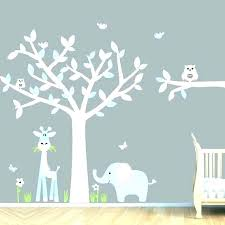 baby boy room decals wall stickers for nursery art blue idea tree
