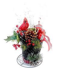 decor centerpiece snowman top hat holiday table arrangement artificial fl christmas decorations black ta