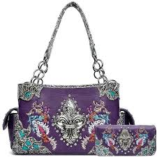 country purses shoulder bags laser leather handbags western road and wallets