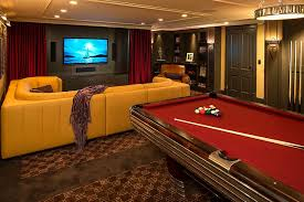 basement home theater ideas. Perfect Ideas View In Gallery Pool Table Makes The Basement Home Theater Even More  Entertaining Design White Space Architecture For Basement Home Theater Ideas T