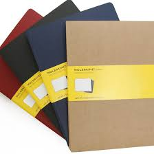 Moleskine Cahier Extra Large Squared Notebook Set Of 3 7 5 X 10