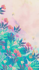 watercolor flowers phone wallpaper