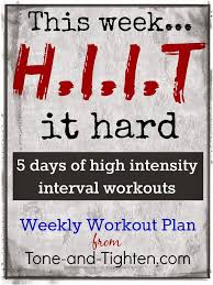 Workouts : Weekly-Workout-Plan-All-Hiit-Workouts-All-Week-Long-Bonus ...